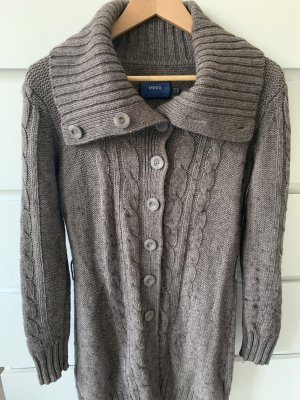 Mexx Knitted Coat grey brown