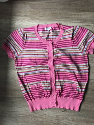 Next Short Sleeve Knitted Jacket multicolored cotton