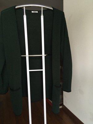 Vero Moda Gilet long tricoté vert foncé-noir