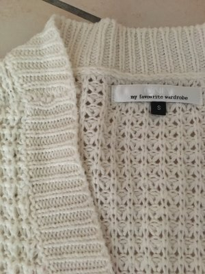 Only Coarse Knitted Jacket cream