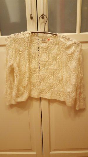 Only Bolero lavorato a maglia bianco