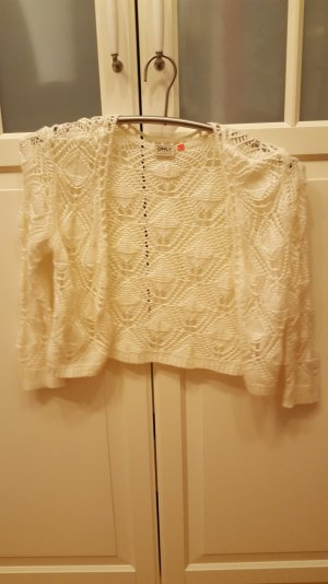 Only Knitted Bolero white