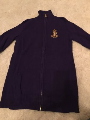 Strickjacke von polo Ralph lauren in lila mit Gold emblem