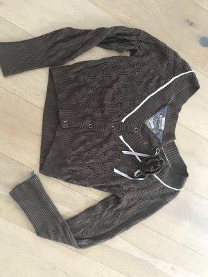 Tommy Hilfiger Boléro en tricot marron clair