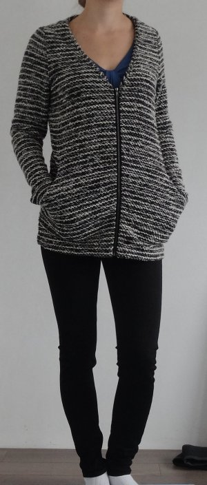 Vero Moda Coarse Knitted Jacket black-white