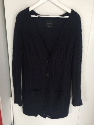 Zara Coarse Knitted Jacket multicolored cotton