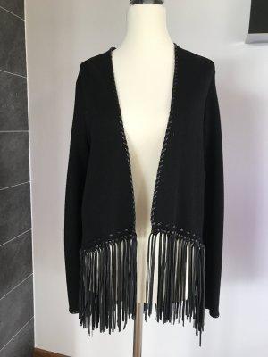 Strickjacke von Zara mit langen Fransen, Größe S