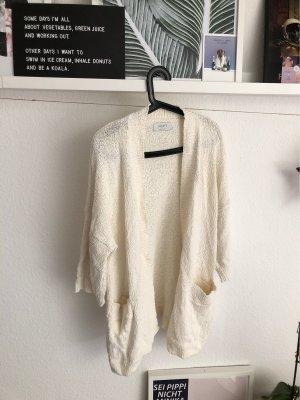 ADPT. Veste en tricot blanc cassé