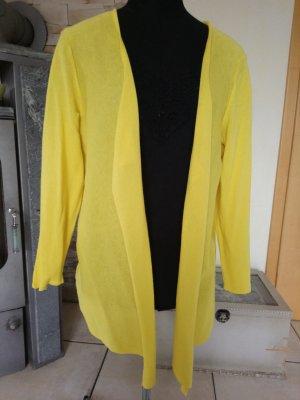 Strickjacke, Weste in sommerlichem gelb,Gr. 40
