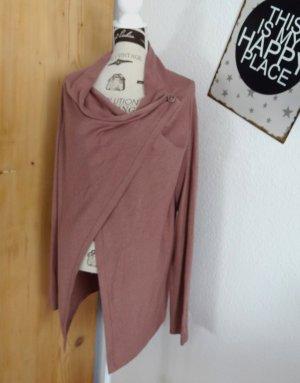 Tom Tailor Cache-cœur en tricot rose coton