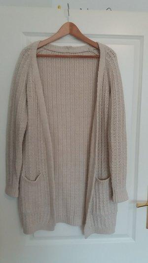 Strickjacke Wolle - beige - 36/38