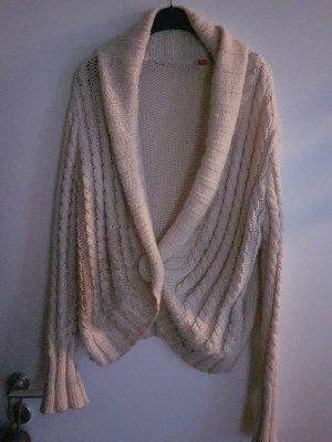 Strickjacke Wolle L im Nude Farbe