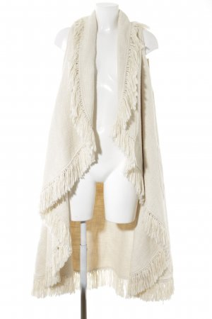 Cardigan natural white casual look