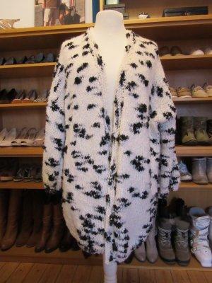 Giacca di lana bianco-nero