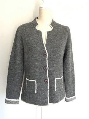 Giacca in maglia grigio Tessuto misto