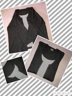 Strickjackenoptik pullover