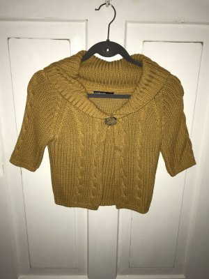 Colours of the World Short Sleeve Knitted Jacket ocher