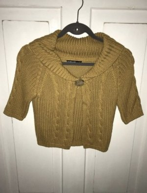 Colours of the World Cardigan à manches courtes ocre-marron clair