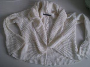 Bolero lavorato a maglia crema Lana