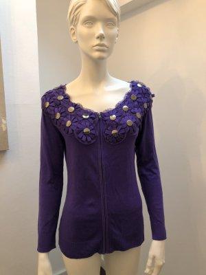 Chaqueta de lana lila lyocell