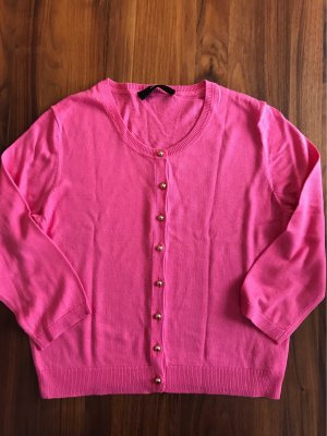 Hallhuber Smanicato lavorato a maglia rosa