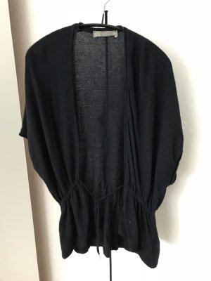 Zara Cardigan à manches courtes bleu foncé laine angora