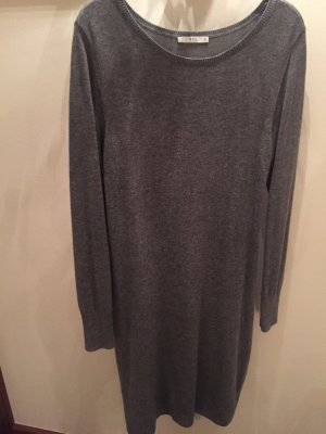 Edc Esprit Robe en maille tricotées gris
