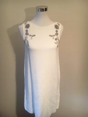 Zara Knit Abito di maglia bianco