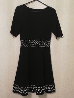 Orsay Knitted Dress black-white