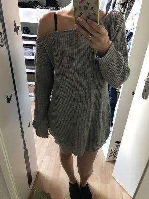 Missguided Abito di maglia grigio