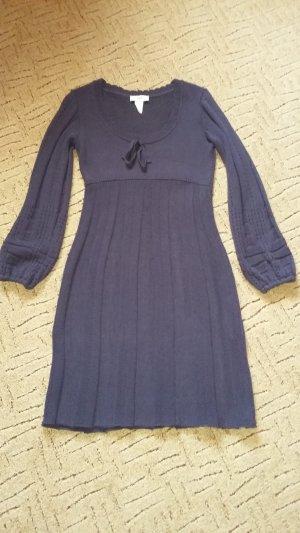 b.p.c. Bonprix Collection Abito di maglia viola scuro-viola-grigio Cotone