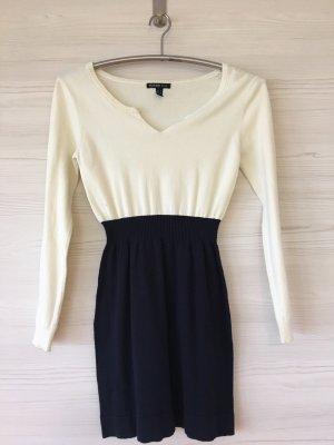 Mango Knitted Dress cream-dark blue