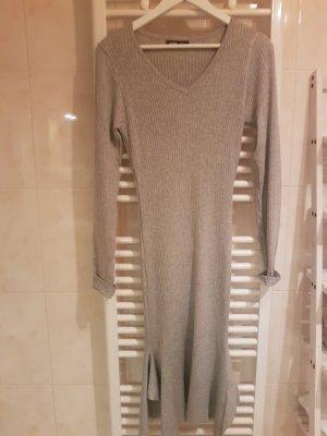 Gebreide jurk lichtgrijs-grijs