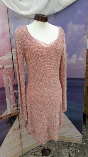 b.p.c. Bonprix Collection Knitted Dress dusky pink-rose-gold-coloured