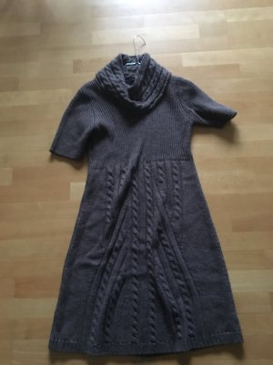 Apart Knitted Dress light brown-brown