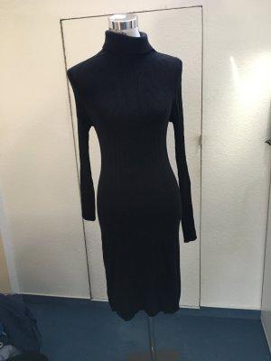 Robe en maille tricotées noir