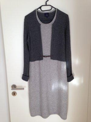 cashmere collection Robe en maille tricotées gris clair-gris anthracite