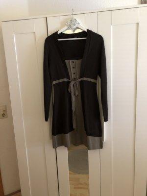 Bodyflirt Gebreide jurk grijs-zwart bruin