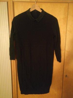 COS Vestido tejido negro lana merina