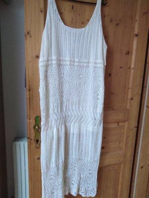 H&M Gebreide jurk wit
