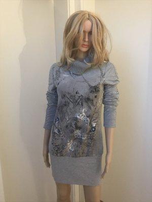 Biba Sweater Dress silver-colored mixture fibre