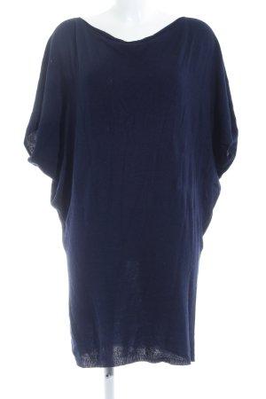 Vestido tejido azul oscuro look casual