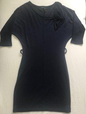 Strickkleid dunkelblau mit Schleife, Vera Mode, Gr. S