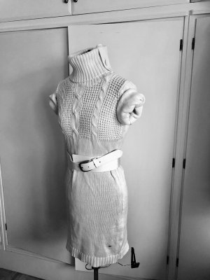 Knitted Dress natural white