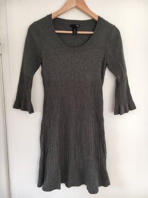 H&M Abito di maglia grigio-grigio scuro
