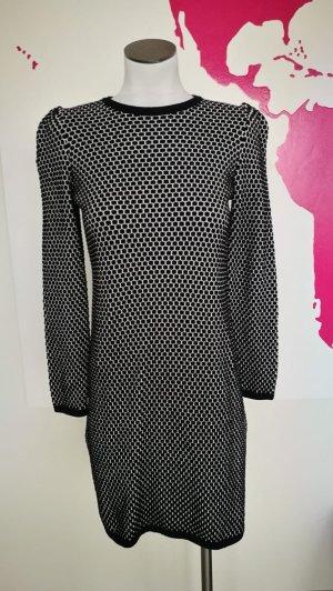 COS Gebreide jurk wit-zwart