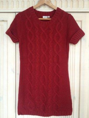 Strickkleid Kleid kurz rot Größe 36