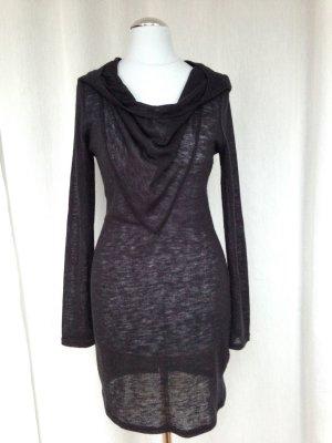 Strickkleid Kleid Minikleid mit Kapuze stylisch