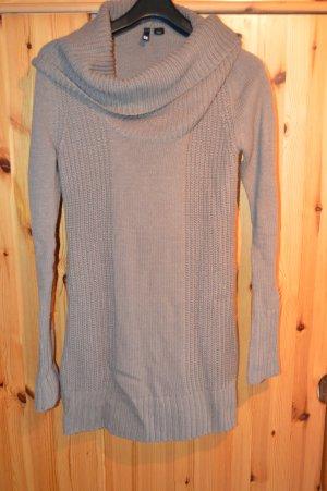 Strickkleid, Long-Pullover mit großen Kragen