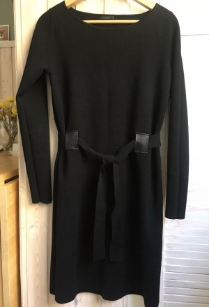 COS Gebreide jurk zwart Merinowol